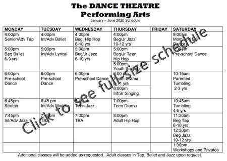 2017/2018 schedule